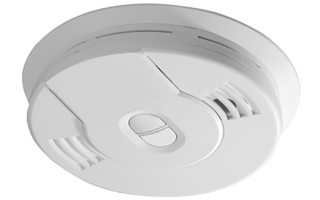 smoke-detector-isolated-on-white-background-RXU8D3V